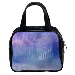 Business Background Blue Corporate Classic Handbags (2 Sides) by Nexatart