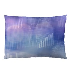 Business Background Blue Corporate Pillow Case by Nexatart
