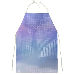 Business Background Blue Corporate Full Print Aprons by Nexatart
