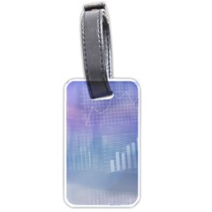 Business Background Blue Corporate Luggage Tags (two Sides)