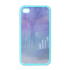 Business Background Blue Corporate Apple Iphone 4 Case (color) by Nexatart