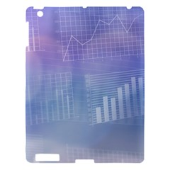 Business Background Blue Corporate Apple Ipad 3/4 Hardshell Case by Nexatart
