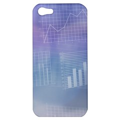 Business Background Blue Corporate Apple Iphone 5 Hardshell Case by Nexatart