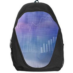 Business Background Blue Corporate Backpack Bag by Nexatart