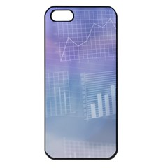Business Background Blue Corporate Apple Iphone 5 Seamless Case (black) by Nexatart