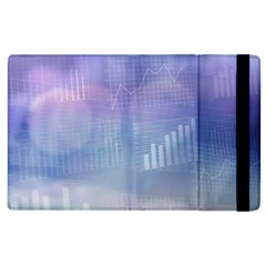 Business Background Blue Corporate Apple Ipad 2 Flip Case by Nexatart