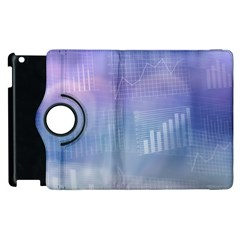 Business Background Blue Corporate Apple Ipad 3/4 Flip 360 Case by Nexatart