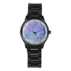 Business Background Blue Corporate Stainless Steel Round Watch by Nexatart