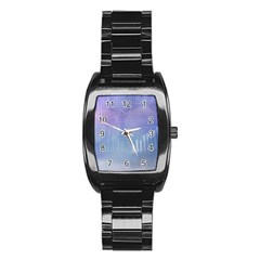 Business Background Blue Corporate Stainless Steel Barrel Watch by Nexatart
