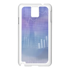 Business Background Blue Corporate Samsung Galaxy Note 3 N9005 Case (white) by Nexatart