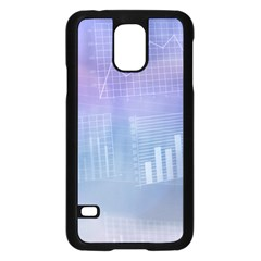 Business Background Blue Corporate Samsung Galaxy S5 Case (black) by Nexatart