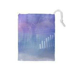 Business Background Blue Corporate Drawstring Pouches (medium)  by Nexatart