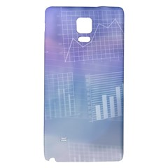 Business Background Blue Corporate Galaxy Note 4 Back Case by Nexatart