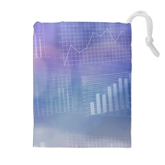 Business Background Blue Corporate Drawstring Pouches (extra Large) by Nexatart