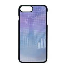 Business Background Blue Corporate Apple Iphone 7 Plus Seamless Case (black)