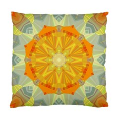 Sunshine Sunny Sun Abstract Yellow Standard Cushion Case (two Sides) by Nexatart