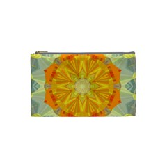 Sunshine Sunny Sun Abstract Yellow Cosmetic Bag (small)  by Nexatart