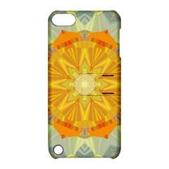 Sunshine Sunny Sun Abstract Yellow Apple Ipod Touch 5 Hardshell Case With Stand