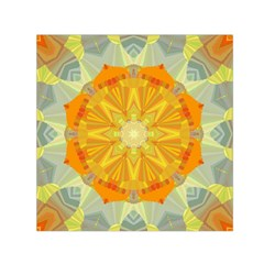 Sunshine Sunny Sun Abstract Yellow Small Satin Scarf (square) by Nexatart