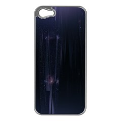 Abstract Dark Stylish Background Apple Iphone 5 Case (silver)