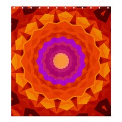 Mandala Orange Pink Bright Shower Curtain 66  X 72  (large)