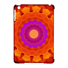 Mandala Orange Pink Bright Apple Ipad Mini Hardshell Case (compatible With Smart Cover)