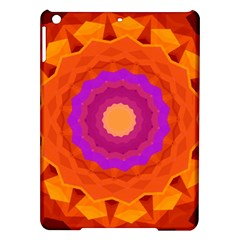 Mandala Orange Pink Bright Ipad Air Hardshell Cases by Nexatart