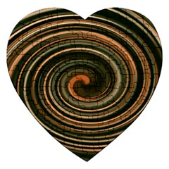 Strudel Spiral Eddy Background Jigsaw Puzzle (heart) by Nexatart