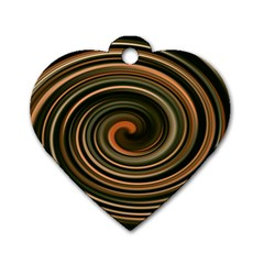 Strudel Spiral Eddy Background Dog Tag Heart (one Side)
