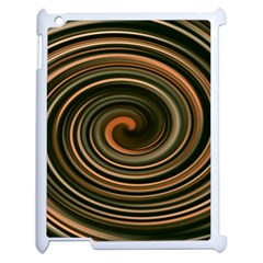 Strudel Spiral Eddy Background Apple Ipad 2 Case (white) by Nexatart