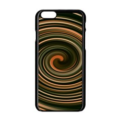 Strudel Spiral Eddy Background Apple Iphone 6/6s Black Enamel Case by Nexatart