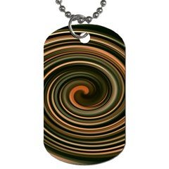 Strudel Spiral Eddy Background Dog Tag (two Sides) by Nexatart