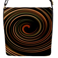 Strudel Spiral Eddy Background Flap Messenger Bag (s) by Nexatart