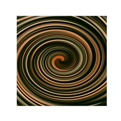 Strudel Spiral Eddy Background Small Satin Scarf (square)