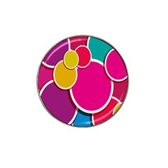 Paint Circle Red Pink Yellow Blue Green Polka Hat Clip Ball Marker (10 Pack) by Mariart