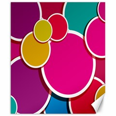 Paint Circle Red Pink Yellow Blue Green Polka Canvas 20  X 24   by Mariart
