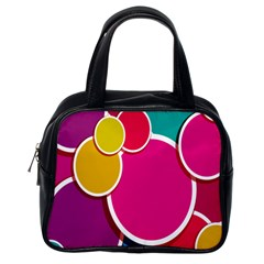 Paint Circle Red Pink Yellow Blue Green Polka Classic Handbags (one Side) by Mariart