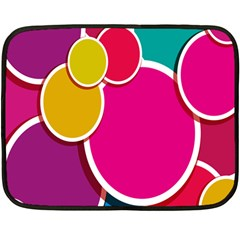 Paint Circle Red Pink Yellow Blue Green Polka Fleece Blanket (mini) by Mariart