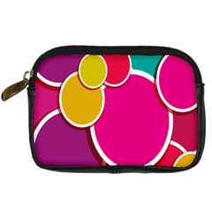Paint Circle Red Pink Yellow Blue Green Polka Digital Camera Cases by Mariart