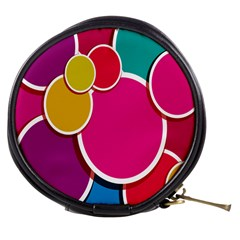 Paint Circle Red Pink Yellow Blue Green Polka Mini Makeup Bags by Mariart