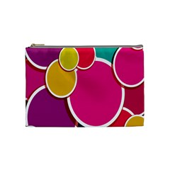 Paint Circle Red Pink Yellow Blue Green Polka Cosmetic Bag (medium)  by Mariart