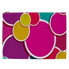 Paint Circle Red Pink Yellow Blue Green Polka Cosmetic Bag (xxl)  by Mariart