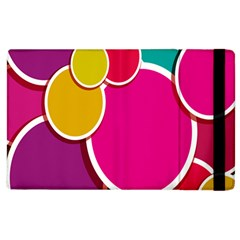 Paint Circle Red Pink Yellow Blue Green Polka Apple Ipad 2 Flip Case by Mariart