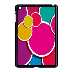 Paint Circle Red Pink Yellow Blue Green Polka Apple Ipad Mini Case (black) by Mariart