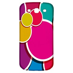 Paint Circle Red Pink Yellow Blue Green Polka Samsung Galaxy S3 S Iii Classic Hardshell Back Case by Mariart