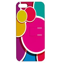 Paint Circle Red Pink Yellow Blue Green Polka Apple Iphone 5 Hardshell Case With Stand by Mariart