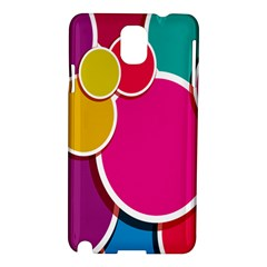 Paint Circle Red Pink Yellow Blue Green Polka Samsung Galaxy Note 3 N9005 Hardshell Case by Mariart