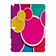 Paint Circle Red Pink Yellow Blue Green Polka Galaxy Note 1 by Mariart