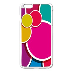 Paint Circle Red Pink Yellow Blue Green Polka Apple Iphone 6 Plus/6s Plus Enamel White Case by Mariart