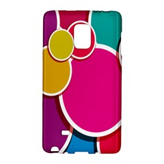 Paint Circle Red Pink Yellow Blue Green Polka Galaxy Note Edge by Mariart